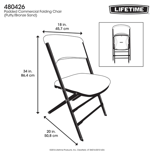 Lifetime 480426 Lifetime Padded Chair On Sale With Fast