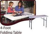 Rectangular 4 Foot Tables
