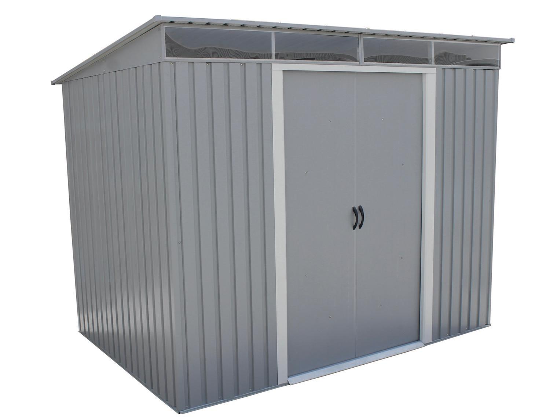 Duramax 50371 8x6 Pent Roof With Skylight Light Gray Metal