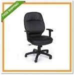 OFM Stimulus Leatherette Ergonomic Task Chair + Adjust Arms 521-LX-AA