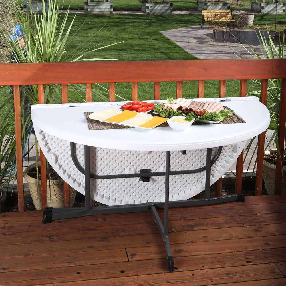 Folding Round Table Top.Lifetime Round Tables 5402 60 In White Granite Fold In Half Table Top