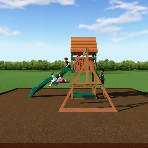Backyard Odyssey 54213com Trek Wooden Playground Play Set