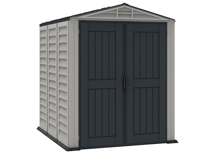 Duramax 35825 YardMate Plus 5x8 Ft. Vinyl Resin Anthracite Storage Shed with Floor