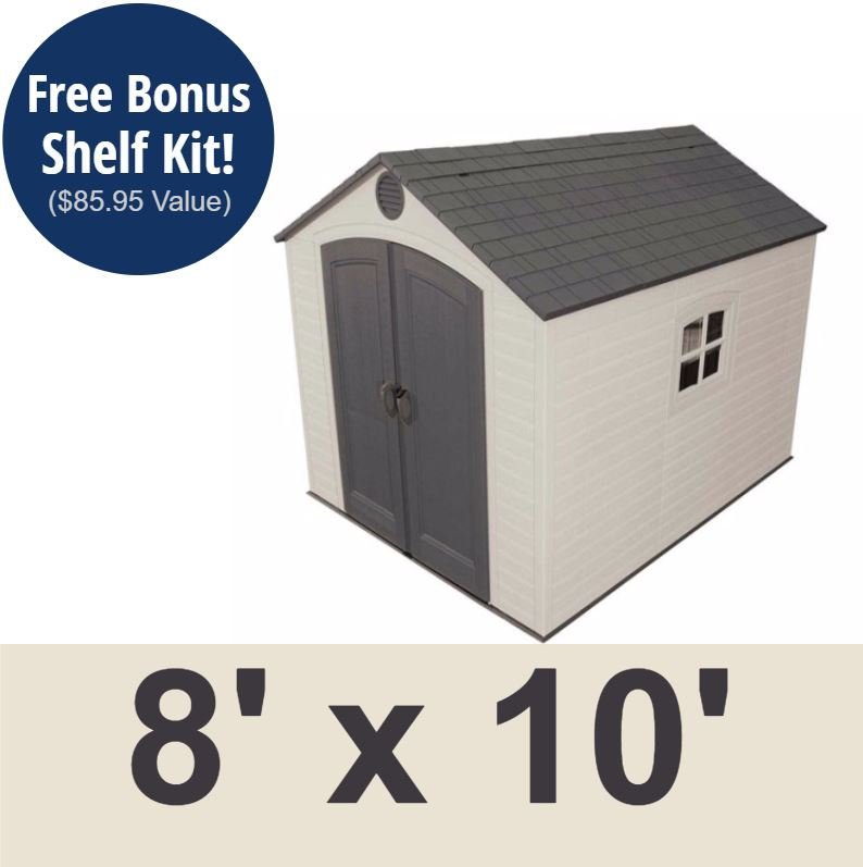 Lifetime Outdoor Shed - 7 7x7 ft. Storage Unit