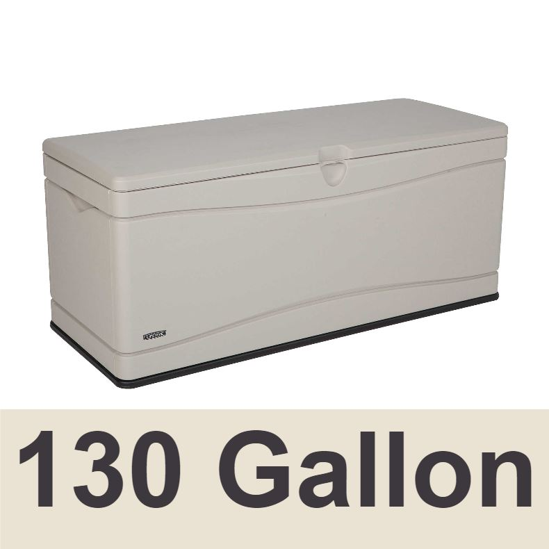 60040 Lifetime Outdoor Storage Box 130 Gal. Capacity