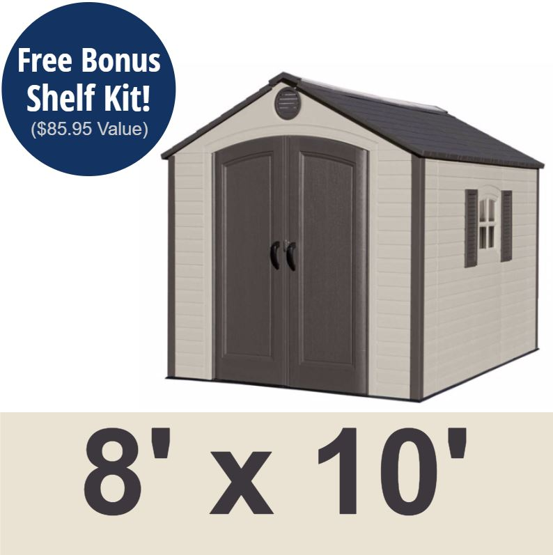 8x10 Metal Shed >> Lifetime Outdoor Shed 60056 Storage Shed 8 X 10