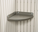 Lifetime Storage Shed Shelf Accessory 0110 Corner Shelf to 7/8' Sheds