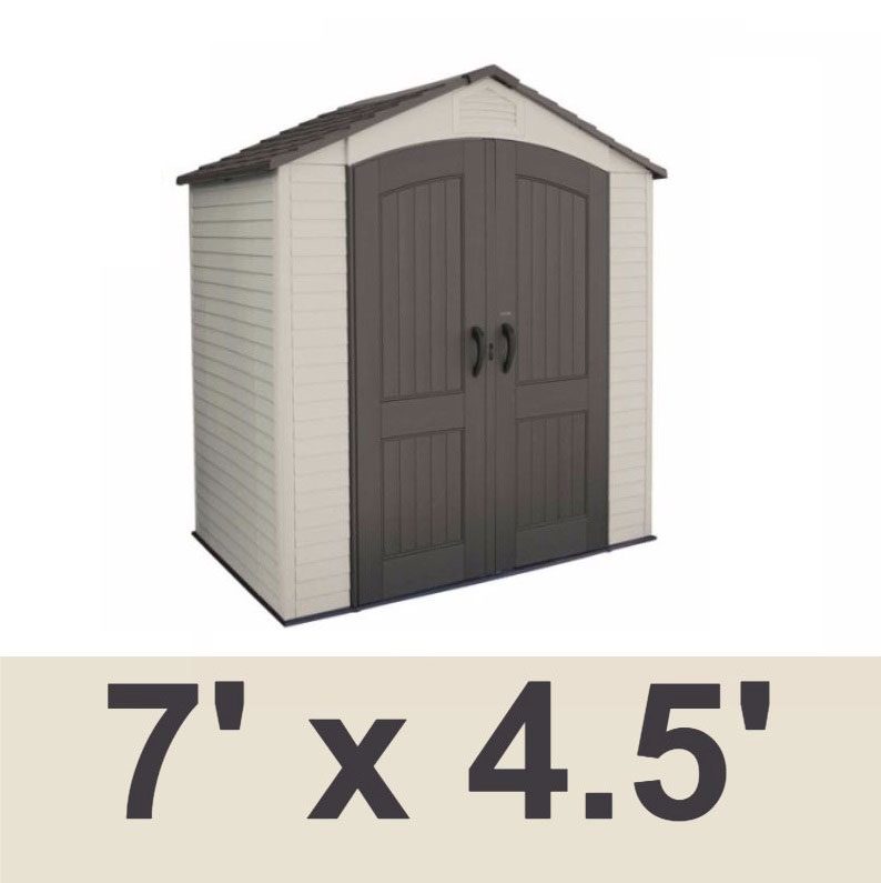 Video; assets/images/60057a.jpg ...  sc 1 st  Competitive Edge Products & Lifetime Plastic Storage Shed 60057 7 ft x 4.5 ft Outdoor Building