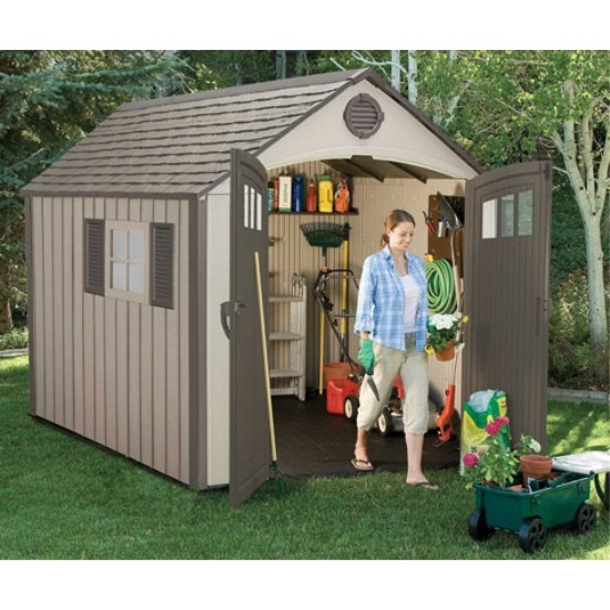 assets/images/60085 lifetime storage shed in use. ...  sc 1 st  Competitive Edge Products & Lifetime Storage Sheds - 60085 Plastic Outdoor Shed 8x10