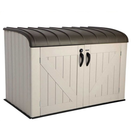 Lifetime Outdoor Garbage Bin 60203 Horizontal Storage Shed