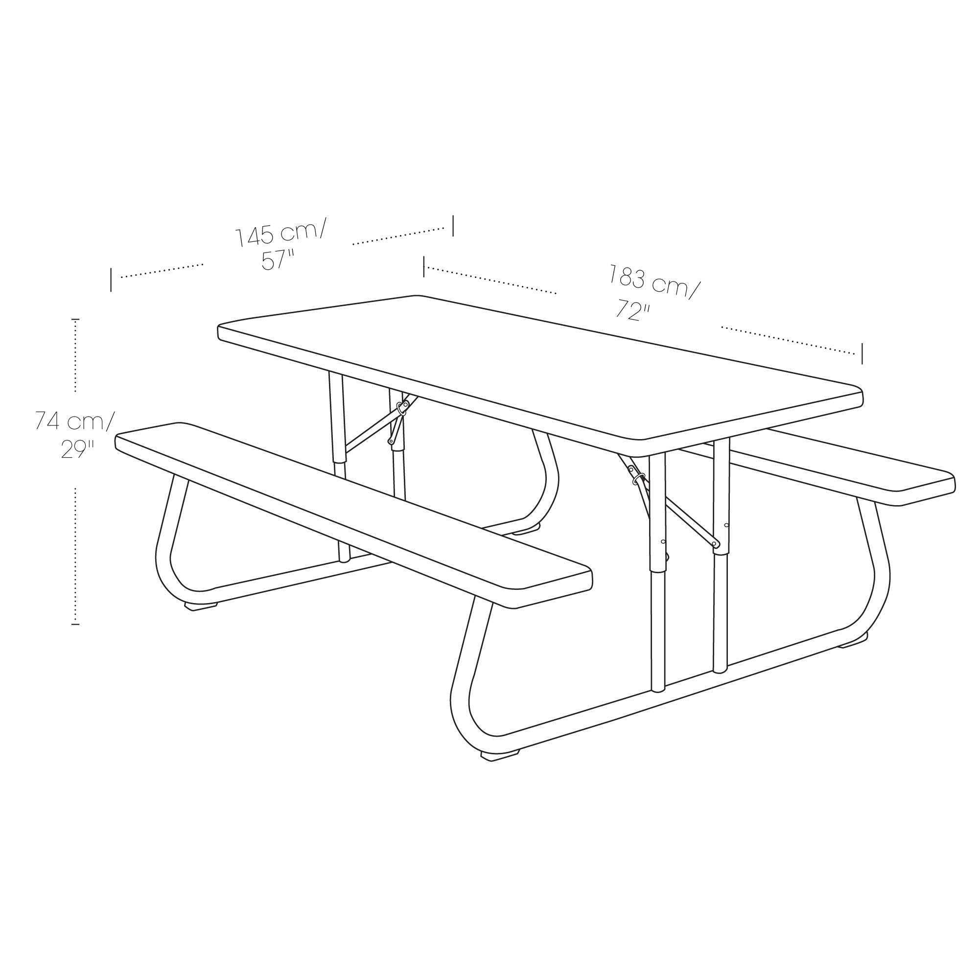 Lifetime Brown Plastic Folding Picnic Table Pack On Sale Ships Free - Picnic table specs