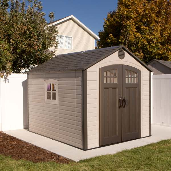... assets/images/60117-4.jpg ... & Lifetime 60117 Outdoor Storage Shed 8 x 10 With Full Length Skylight