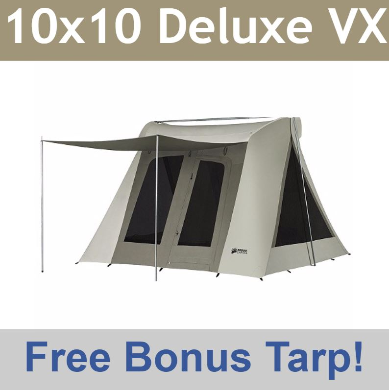 Super Deluxe Kodiak Canvas Tent VX Series 10x10 + Tarp (6013 Together)