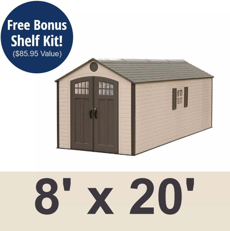 Lifetime 60120 8 x 20 Storage Shed on Sale with Fast & Free Shipping