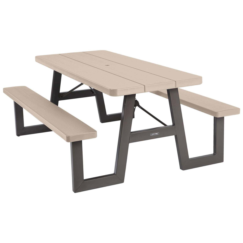 - 60126 Lifetime 6-Foot W-Frame Folding Picnic Table