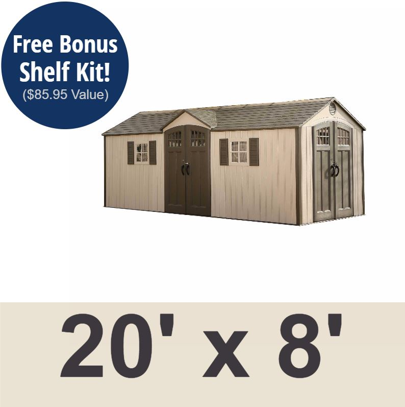Lifetime 60127 20x8 Lifetime Shed 734383 on Sale with Fast & Free ...
