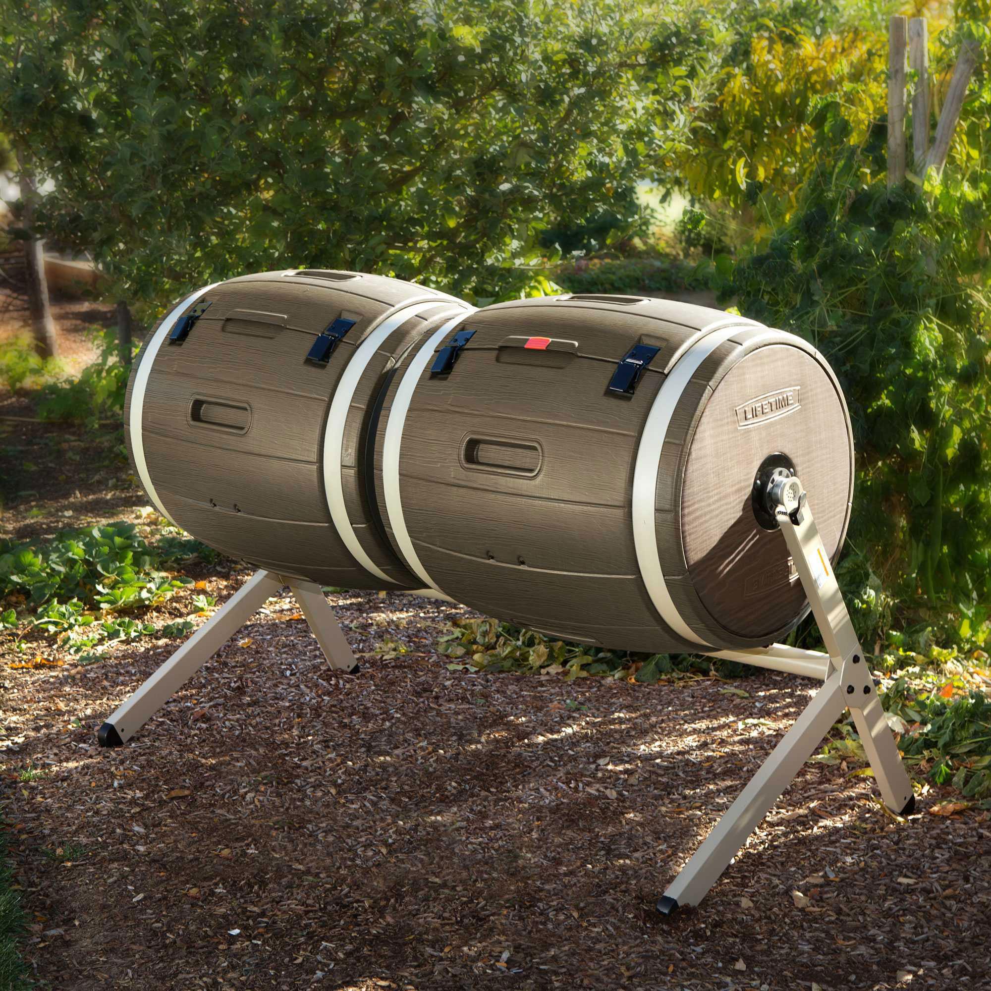 60130 Lifetime Dual Compost Tumbler