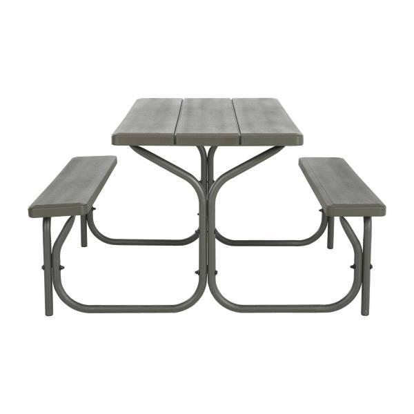 Lifetime Picnic Table Brown 60135 4 Ft Plastic Top