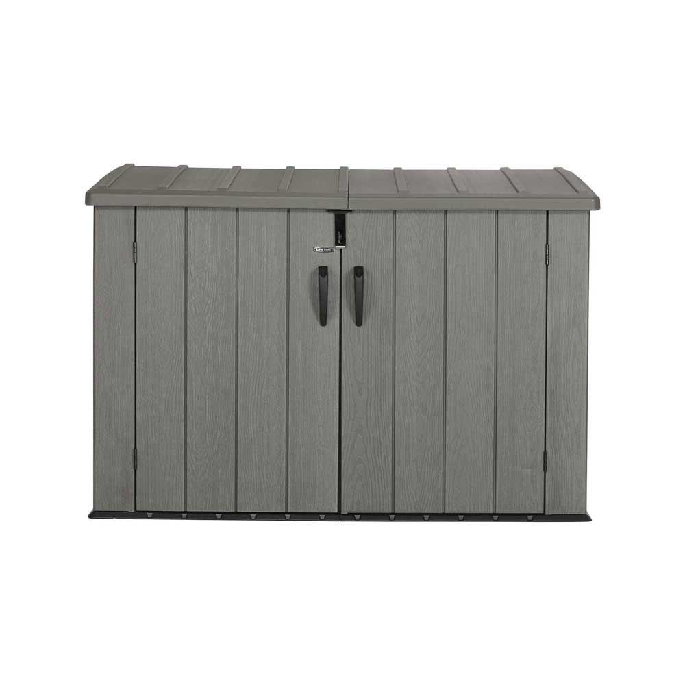Lifetime Outdoor Garbage Bin 60212 Brown 6 Horizontal