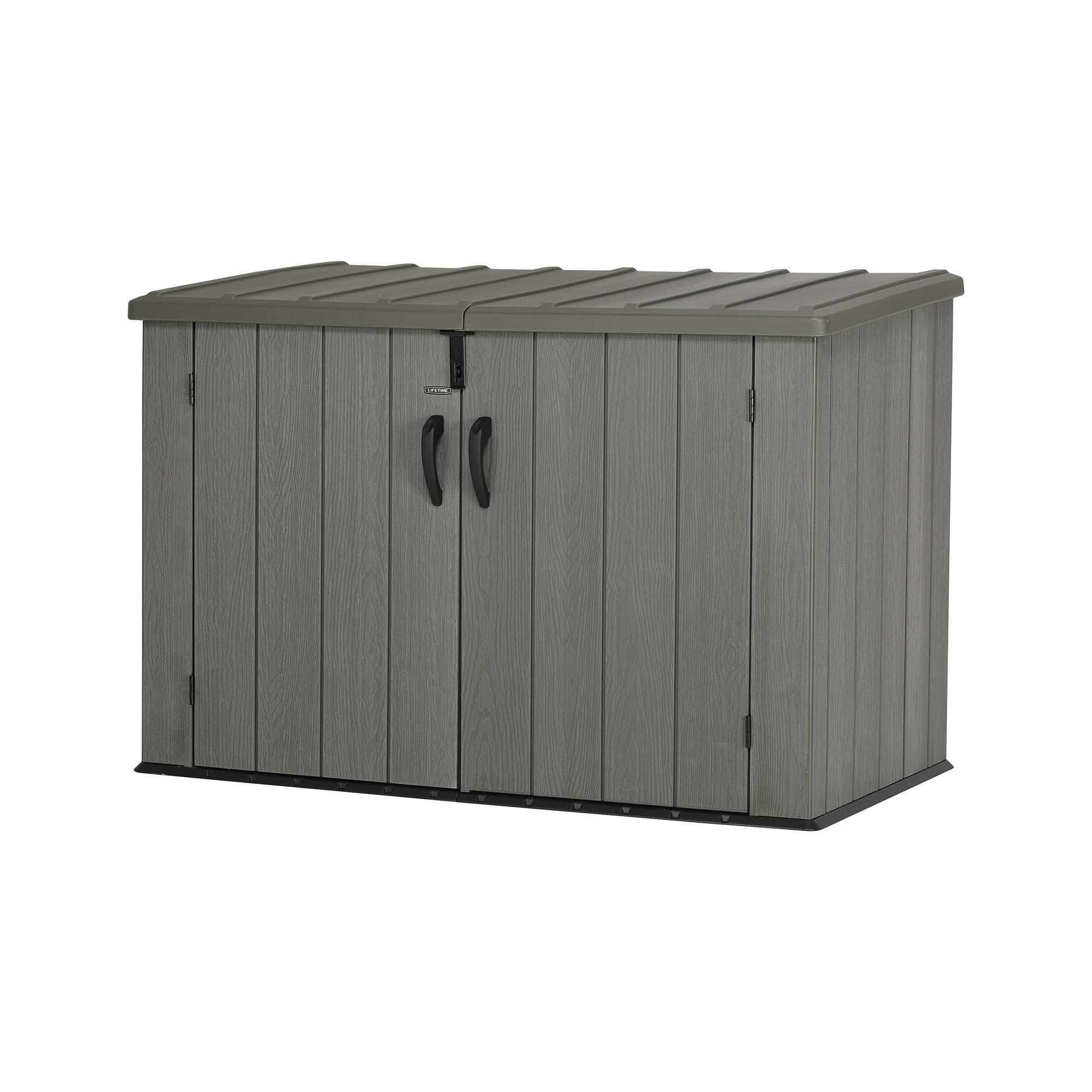 Lifetime Outdoor Garbage Bin 60212 Brown 6 Horizontal