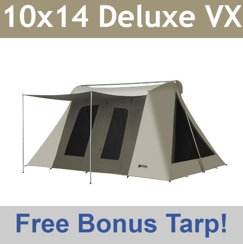 Kodiak Canvas Tent 6041VX Super Deluxe 10x14 Includes Free Ground Tarp