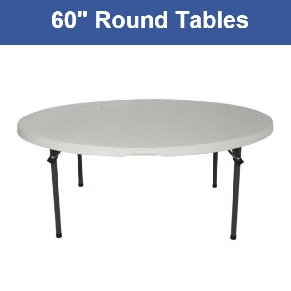 60 Inch Round 8 Person