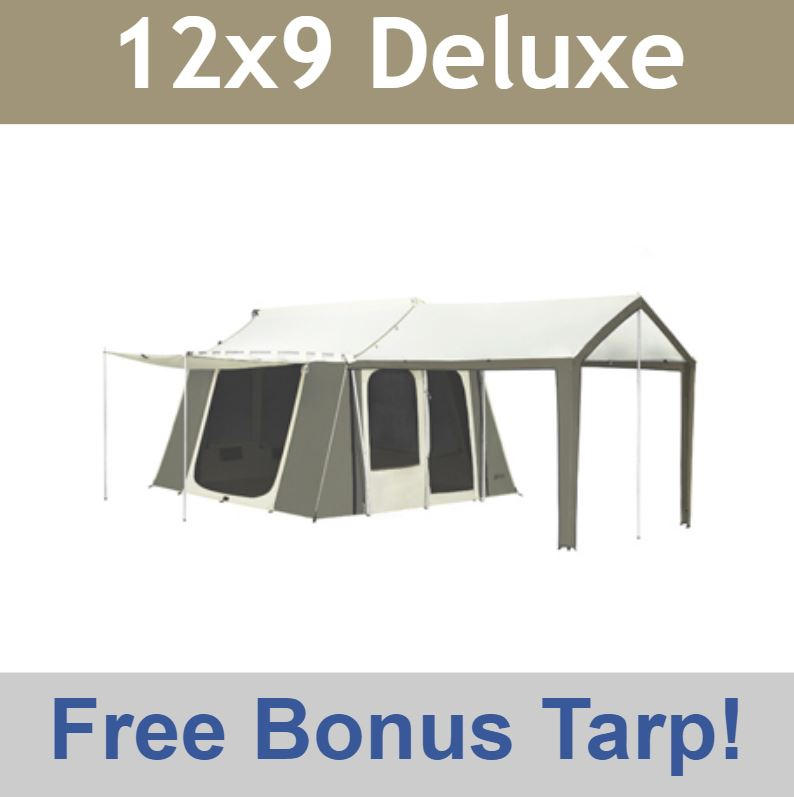 Video; assets/images/6133frame.jpg ...  sc 1 st  Competitive Edge Products Inc & Kodiak Canvas Cabin Tent 6133 6-Person 9x12 With Deluxe Awning Canopy