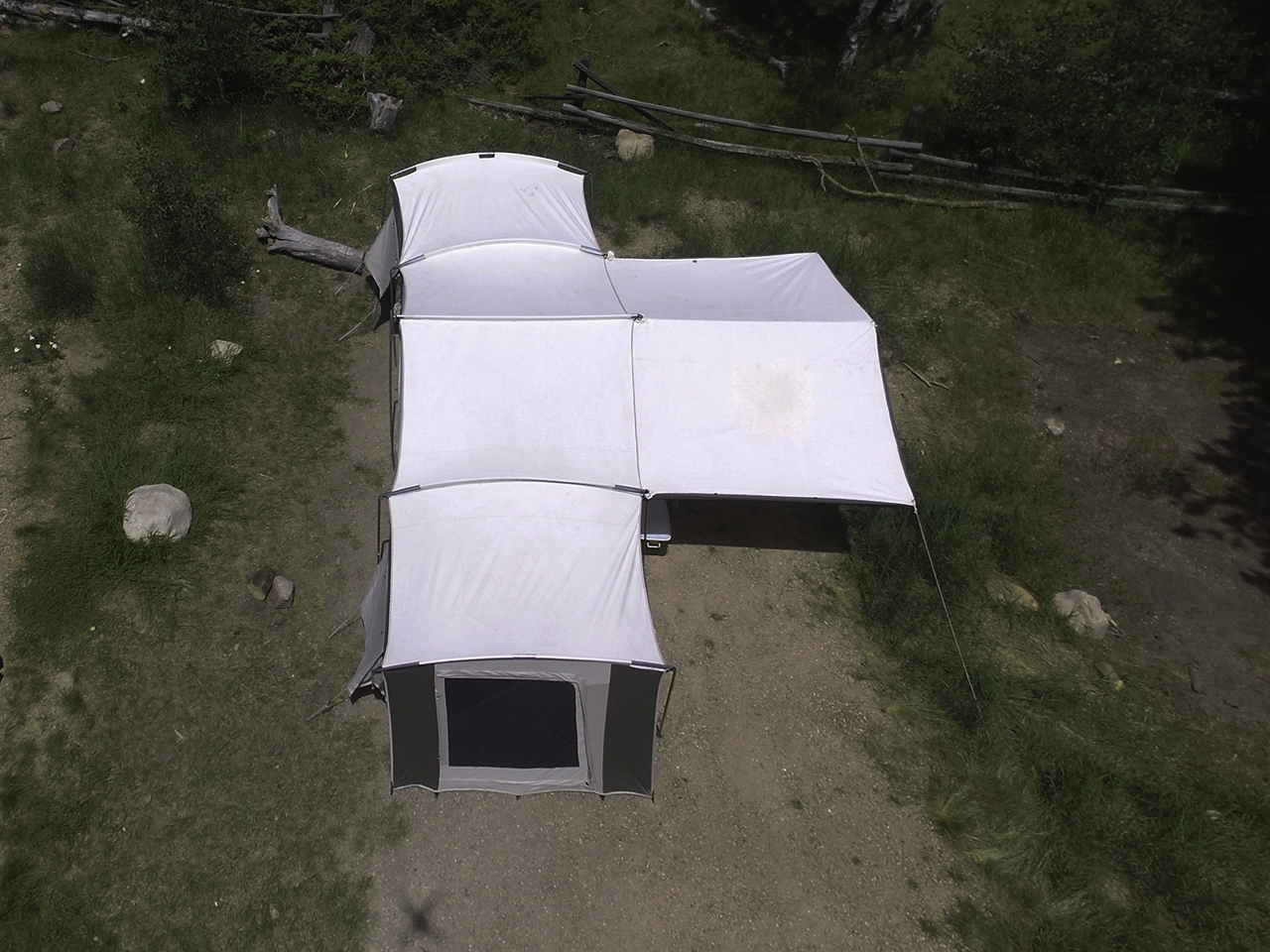 6160 Kodiak Canvas Grand Cabin 26x8 12 Person Tent
