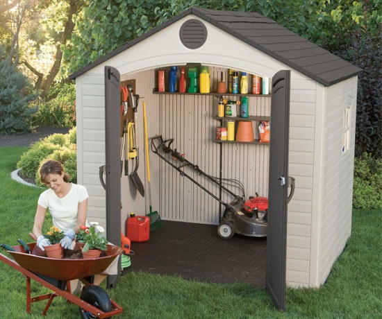 8x5 Plastic Storage Shed Sale Today With Fast Shipping