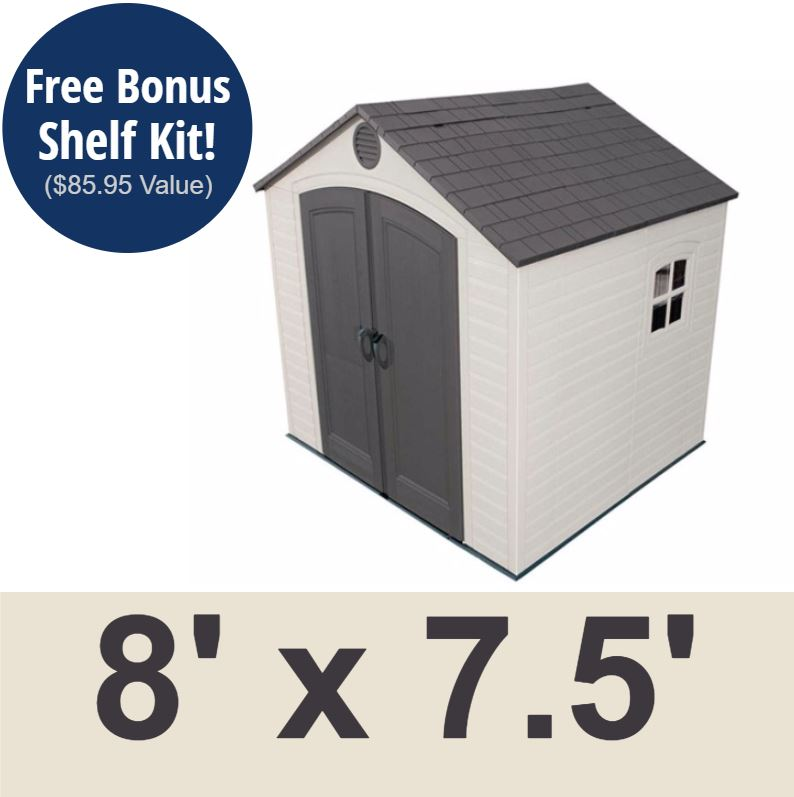 Lifetime 6411 8 x 7.5 Lifetime Garden Shed on Sale with Free Shipping