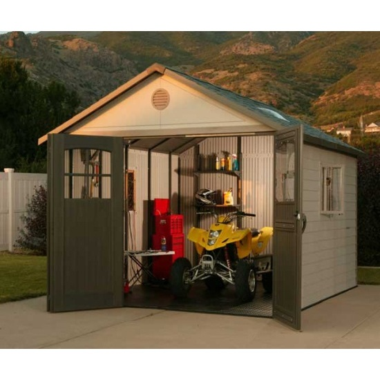 ... assets/images/6417 lifetime shed in use.jpg ...  sc 1 st  Competitive Edge Products & Lifetime 60187 Storage Shed 11x11 on Sale with Fast u0026 Free Shipping