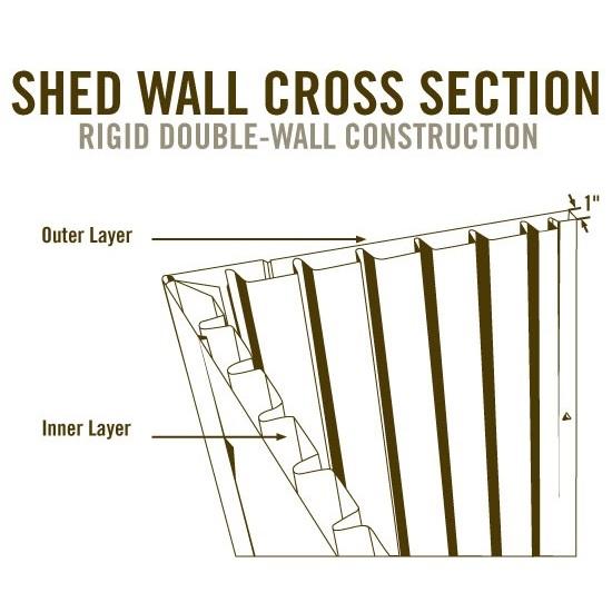 Lifetime Shed Extension Kit 6422 30-inch Extension Kit for 8-Ft Sheds
