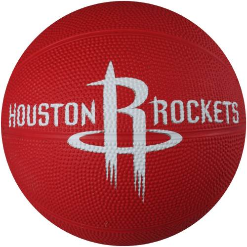 Spalding 65-541E Houston Rockets Mini Rubber Basketball