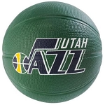 Spalding 65-877E Utah Jazz Mini NBA Team Rubber Basketball