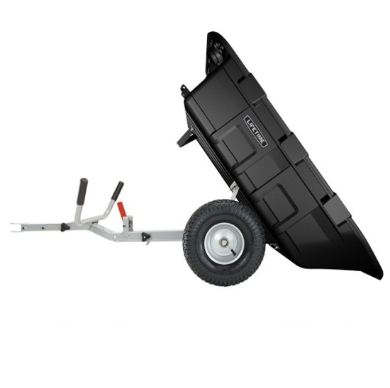 Lifetime 65009 Yard Cart Trailer And Wheelbarrow Combo