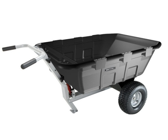 Lifetime 65009 Yard Cart Trailer And Wheelbarrow Combo