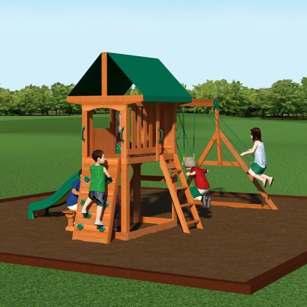 Backyard Discovery 65012com Somerset Wooden Swing Set W