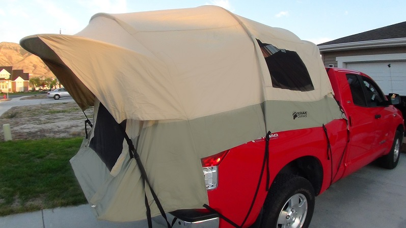 ... assets/images/7218cep-03.jpg ... & Kodiak Canvas Tent 7218 For 8-Ft Truck Bed - Free Cargo Net Included