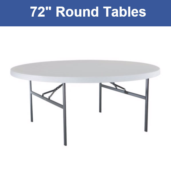 72 Inch Round 10 Person