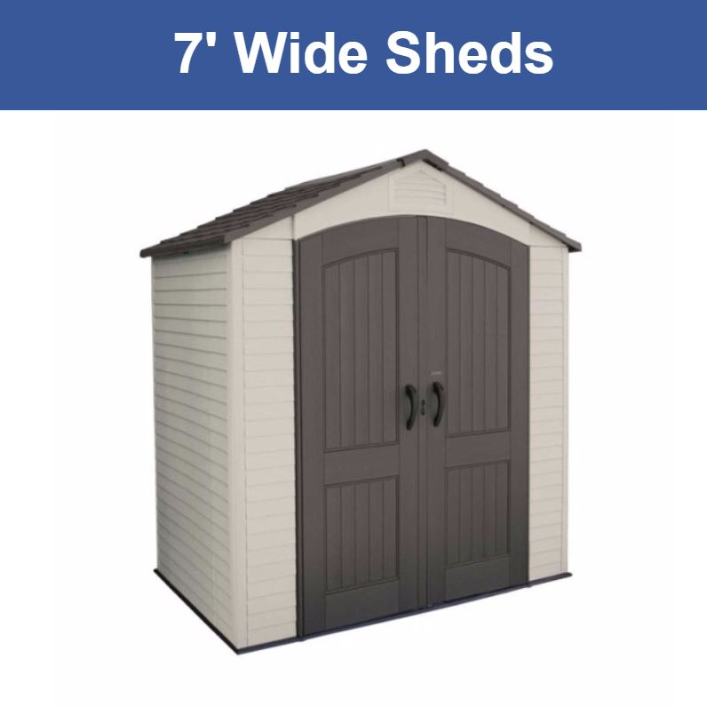 7 ft. Wide Storage Sheds