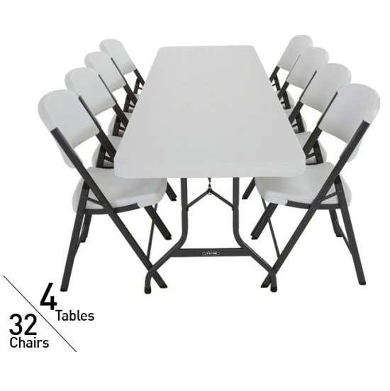 Lifetime 4 Pack 8 Tables Amp 32 Pack Chairs On Sale With