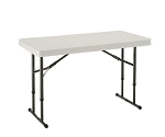 Lifetime Folding Tables - 80161 Almond 4 ft. Adjustable Height Table