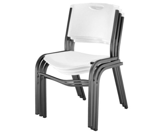 Lifetime 80184 White Stacking Chair 14 Pack On Sale With