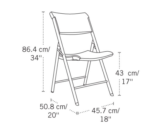 Lifetime Chairs 80262 Almond Plastic Chairs 64 Pack