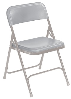 National Public Seating 800 Series Plastic Folding Chair 96 Pack