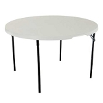 11 Lifetime Tables 80207 Almond Color Fold-in-Half Table 48-in Round