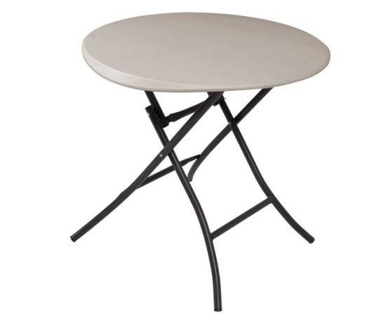Lifetime Round Folding Table 80230 Putty Color 33 Inch
