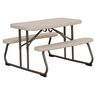 Lifetime Kids Picnic Table 80232 Putty Color Plastic Top