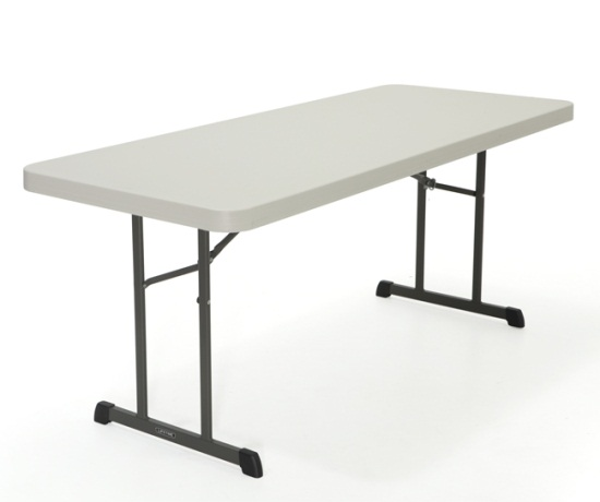Lifetime Professional Grade Folding Table 80249 6-Foot Single Pack