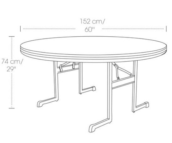 Strange 10 Lifetime Round Folding Tables 80313 60 In Almond Professional Grade Download Free Architecture Designs Rallybritishbridgeorg